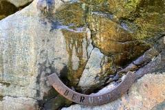 Fels zum Berühren